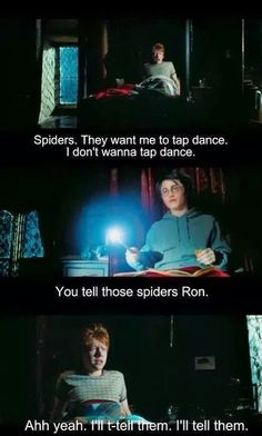 you tell those spiders!