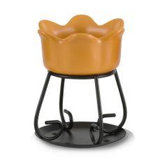 Yankee Candle  Petal Bowl Tart Burner (Burnt Orange)