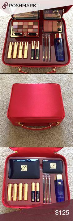 NWT Estée Lauder Red Case Make up Set All your favorite essentials from Estée Lauder Estee Lauder Makeup Blush