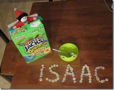 #elf on a shelf - hiding in a cereal box #Christmas