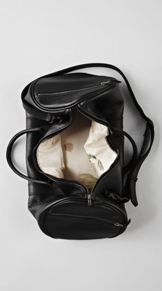 Black Leather Boxing Duffle - I Love Ugly