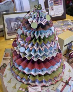 medallion cone-shaped tree-- i forgot to make one this year!!