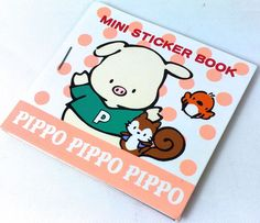 VTG SANRIO PIPPO PIG ❤︎ RARE MINI STICKER BOOK ❤︎ SQUIRREL BIRD CUTE KAWAII 90s
