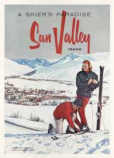 Great composition - Sun Valley designs rarely disappoint... SUN VALLEY poster in Christies Sale 2015