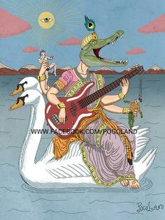 Goddess of Music and rhythm #arte #art #tattoo ##illustration #ilustracao #illustragram #godness #music #musically