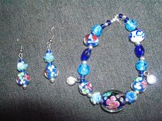 Bracelet and earrings I made