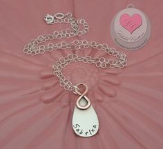 Infinite Love Personalized Hand Stamped by LalabelCreations, $52.99