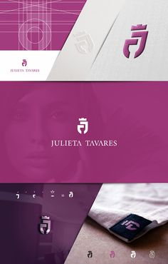 Logo criado para indústria de confecções, Julieta Tavares.  Cacoal – Ro Typography Logo, Logo Branding, Brand Identity Design, Branding Design, Corporate Website Design, Graphisches Design, Photography Logo Design, Affinity Designer, Abstract Logo