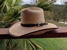 1e2c3c18e5656f Oak 57 Cattlemans Crown 4 inch brim Palm Leaf Hat made by Cannard Hats