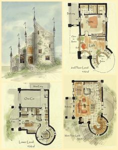real fairytale cottage castle floor plans <3