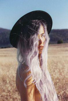 #lightpurple #hair #girl #perfect #tumblr #hat