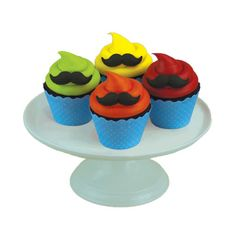 Mustache Edible Sugar Toppers for Cupcakes and Cakes -  (24 Count). $10.95, via Etsy.