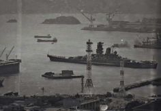 IJN Yamato BB 72000 ton , 18 in super battleship Yamato leaving Kure naval base on on her last voyage naw