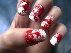 Bloody Halloween nails. Must try.