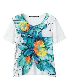 printed blended t shirt Printed-shirts from fashionmia.com
