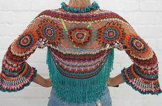 Crochet Blouse, Crochet Scarves, Crochet Clothes, Crochet Hooks, Knit Crochet, Freeform Crochet, Crochet Shawl, Crochet Designs, Crochet Patterns