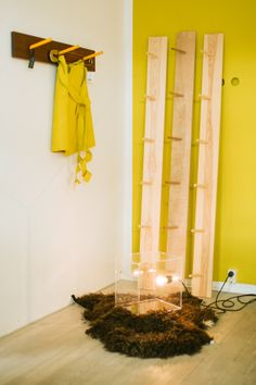 Hangers and Origami skirt by SIRKUS&KUMPP. Lamp by House Doctor.  photo: Hey Look / Michaela Egger