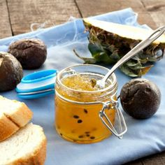A delicious way to start your day: Pineapple & Passion Fruit Jam!