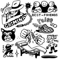 Cool Small Tattoos, Cool Tattoos, Ghost Tattoo, Doodle Tattoo, Tattoo Flash Art, Custom Vinyl, Tattoo Sketches, Tattoo Inspiration, Blackwork