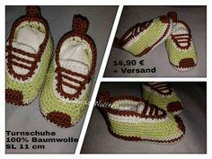 Gehäkelte Turnschuhe Babyschuhe crochet baby booties sneaker