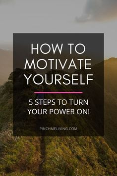 """How to get motivated - Here are 5 steps to not only ignite your motivation, but help you to sustain that motivation over time. There's nothing worse than """"fake motivation"""" (motivation which is all hype and no substance, the kind that fizzles out really f"""