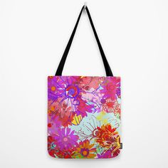Spring Sunshine // Canvas Tote // Bag by MarcellaWylie on Etsy, £26.00