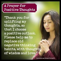 A prayer of positive thought
