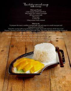 my favorite thai dessert! sticky rice with mango