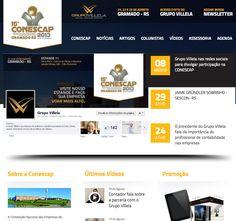 Hotsite para divulgação da participação do Grupo Villela no CONESCAP.