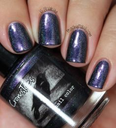 """""""One Trick Pony"""" It's a dark eggplant to green duochrome with a linear holo!"""