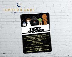 Star Wars Baby Shower Invitation DIGITAL FILE Pinterest Star