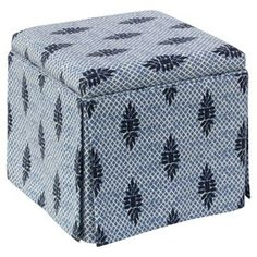 Check out this item at One Kings Lane! Anne Skirted Ottoman, Boca Medallion