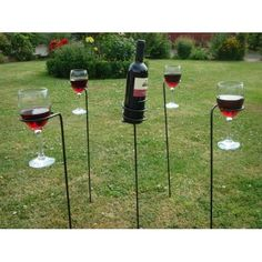 Great idea for outdoor wine festivals! Pack them up  in a collapsable chair bag that you can throw over your shoulder & enjoy!