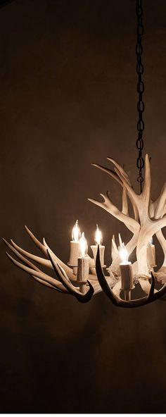 Find rustic home decorating design ideas, tips and a stunning collection of photos for cabin and rustic design inspiration. Chandeliers, Antler Chandelier, Mountain Cottage, Cozy Cottage, Log Cabin Living, Shed Antlers, Antler Art, All Of The Lights, Cabins In The Woods