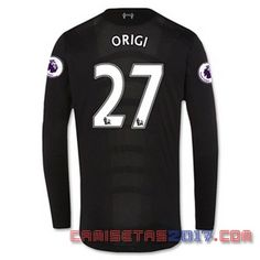 Camiseta manga larga Origi Liverpool 2016 2017 segunda