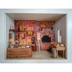 Christmas crib - ref: Italian Bistro, Vitrine Miniature, French Bakery, Bread And Pastries, Brick Wall, Decoration, Firewood, Dollhouse Miniatures, Cribs