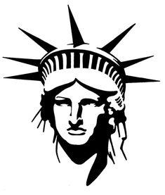 Lady Liberty Stencil
