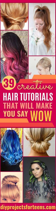 Creative DIY Hair Tutorials Color Rainbow Galaxy and Unique Styles for Long Short and Medium Hair Braids Dyes Instructions for Teens and Women diyprojectsfortee The post 39 Creative Hair Tutorials That Will Make You Say WOW! appeared first on Hair Styles. Medium Hair Braids, Medium Hair Cuts, Medium Hair Styles, Curly Hair Styles, Creative Hairstyles, Hairstyles For School, Down Hairstyles, Braided Hairstyles, Hairdos