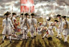Regiment Picardie on the field of the Battle of Abraham Plain, Quebec, Seven Years War