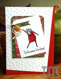 All Things Stampy: Visions of Santa, CASEd from the catty