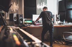 In the Studio: Maxxi Soundsystem Home Studio Setup, Music Studio Room, Sound Studio, Studio Gear, Studio Shoot, Audio Studio, Recording Studio Design, Studio Organization, Marketing Digital