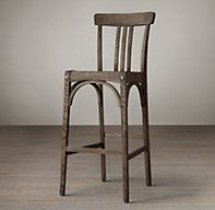 bar stools - in burnt oak   Sinclair Barstool | | Restoration Hardware