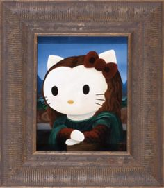 Sanrio Three Apples Art:  Hello Kitty Smiles with Her Heart by Misha