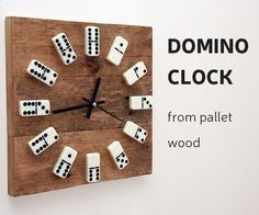 This time Ill show you, how to make a clock from reclaimed pallet wood and use domino tiles instead of numbers.How I did it - you can check by looking DIY video or you can follow up instructions bellow. For this project you will need: Materials:Pallet board Epoxy glueVarnishBrushDomino tilesClock movement mechanism Wood glueFew wood screwsTools: Miter saw or hand sawTable saw or hand planerDrill and bits ScrewdriverClamps