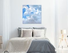 """""""My clouds - relaxation in a painting"""" by Mike Barr. Paintings for Sale. City Rain, Buy Art Online, Warm Autumn, Australian Artists, Paintings For Sale, Online Art Gallery, Lovers Art, Original Artwork, Art Pieces"""