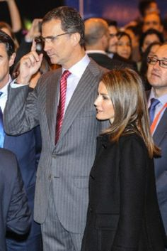 Spanish Crown Prince Felipe and Crown Princess Letizia attend the opening of Fitur 2014.