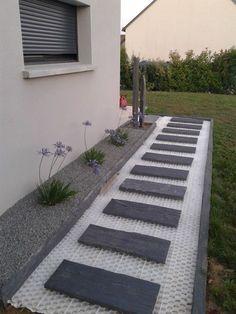 Below are the 40 Stunning Side Yard Garden Design Ideas. This post about 40 Stunning Side Yard. Side Yard Landscaping, Modern Landscaping, Landscaping Ideas, Black Rock Landscaping, Landscaping Borders, Inexpensive Landscaping, Country Landscaping, Path Design, Landscape Design