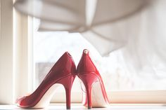 Nothing like a great pair of red shoes to spice up a wedding day.  www.greenseedphotography.com