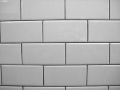 white subway tile, natural gray grout