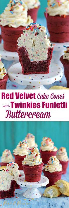 Red Velvet Cake Cone pin